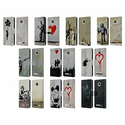 Official Brandalised Tags Leather Book Wallet Case Cover For Motorola Phones