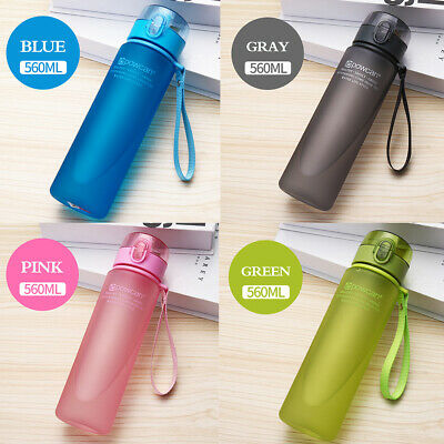 UK Sports Water Bottle BPA Free Plastic Running Drinks For Adults & Kids E4D3U