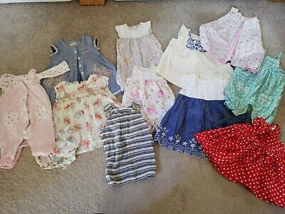 Next GAP Mothercare Baby Girl 0-3 Summer Bundle 11 items Dresses Rompers floral