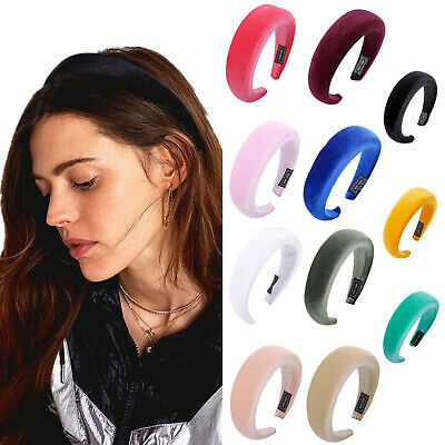 Fashion Women's Padded Velvet Headband Hairband Soft Hair Hoop Band Accessories