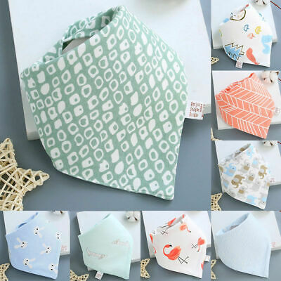 Newborn Infant Baby Boy Girl Cotton Bibs Saliva Towel Bib Feeding Bandana Charm