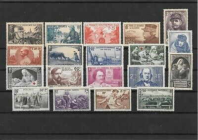 France Annee Complete 1940 Du N° 451/69 Neuf Sans Charniere+++++++++++