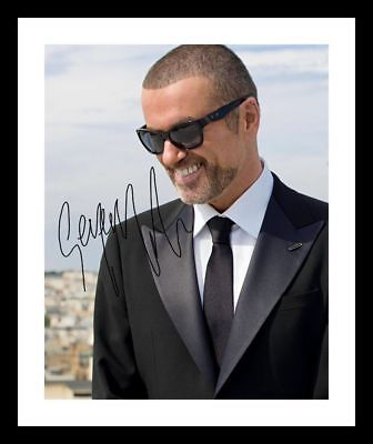 GEORGE MICHAEL AUTOGRAPHED SIGNED /& FRAMED PP POSTER PHOTO D