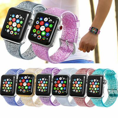 Glitter pulsera Bling correa de reloj For Apple Watch iWatch Series 1/2/3/4