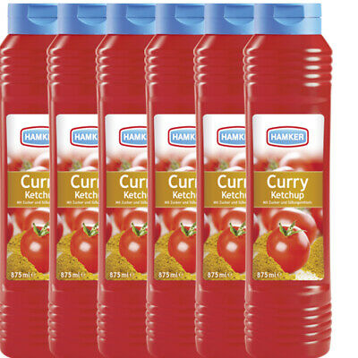 6x Hamker 'Curry Ketchup', 875 ml