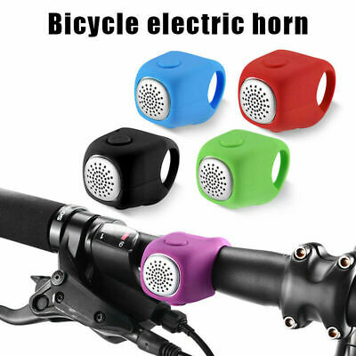 Cycling Bike Electric Horn 90db Waterproof Silicone Bicycle Handlebar Bell New
