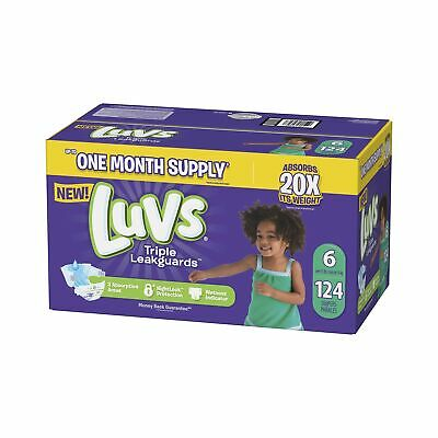 Luvs Ultra Leakguards Disposable Diapers Size 6 124Count ONE MONTH SUPPLY Secure