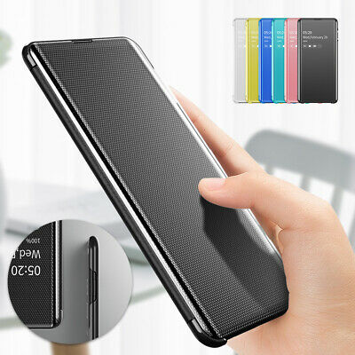For Samsung S10 Plus S9 S8 Note 9 S7 edge Case Flip Slim Shockproof Mirror Cover