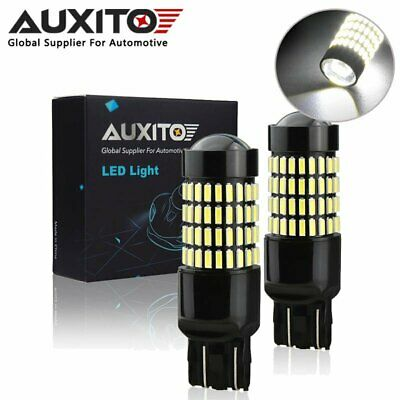 2X Auxito 7443 T20 580 582 102Smd Led Sidelight Brake Tail Parking Light Bulbs