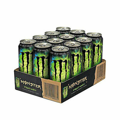 Monster Rehab Green Tea Energy Drink mit Taurin und Guarana 500ml 9erPack