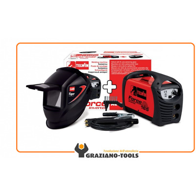 Saldatrice Inverter Force 165 Telwin +Accessori +Maschera 815979