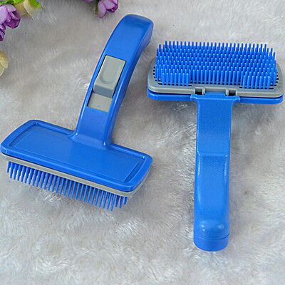 Self Clean Pet Care Hand Grooming Hair Brush Comb Cleaning Dog Puppy Cat KiR-JT