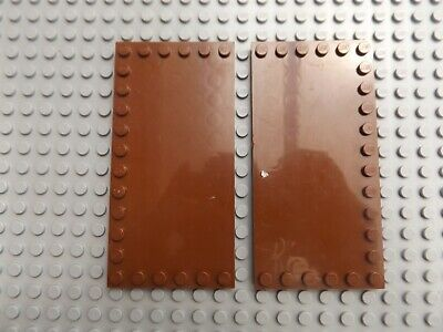 Modified 2 x 2 with Studs on Edge NEW Lego City Castle 10 x Reddish Brown Tile