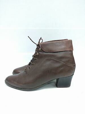 Sz 39 Vintage Ladies ARIANE Brown Classic Lace up leather ankle boot