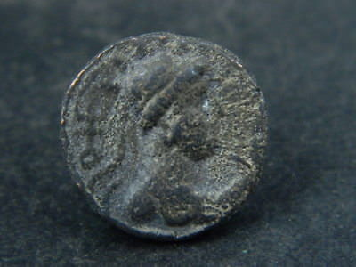 Ancient Bronze Coin Bactrian 100 BC #BR6626