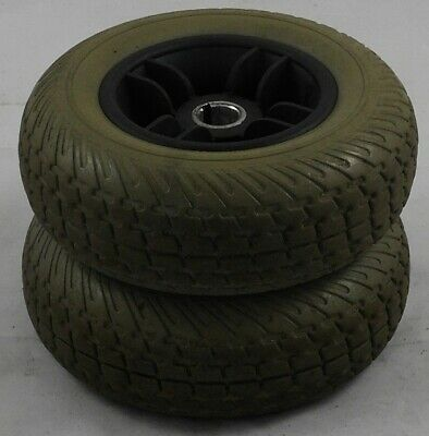 Pride Go Go Elite Traveller Pair of Rear Wheels with Grey Tyres (2.5x8)