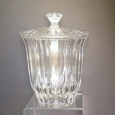 Mikasa PARK LANE Crystal Biscuit Barrel Cookie Jar with Lid 359932 Rare Retired