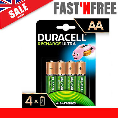 Duracell 4x AA 2500mAh Duralock PRE & STAY Charged Rechargeable Ni-Mh Batteries