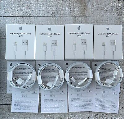 ORIGINAL OEM APPLE iPhone XR,XS,X,8,7,6,5 +  Lightning Cable Charger (2M/6FT)