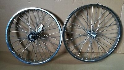 PAIR 26X2.125 BICYCLE STEEL WHEELS HEAVY DUTY COASTER BRAKE REAR 36 SP 12 GA