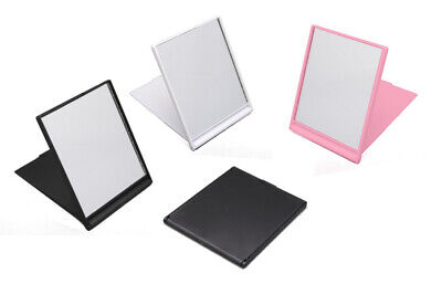 box of 10 x small folding compact mirror in a choice of black pink or white