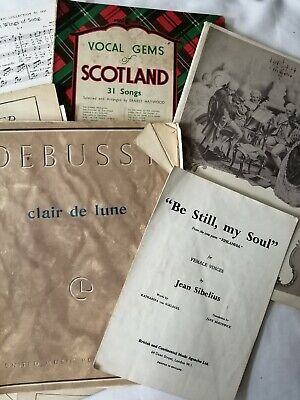 vintage Sheet music for decoupage