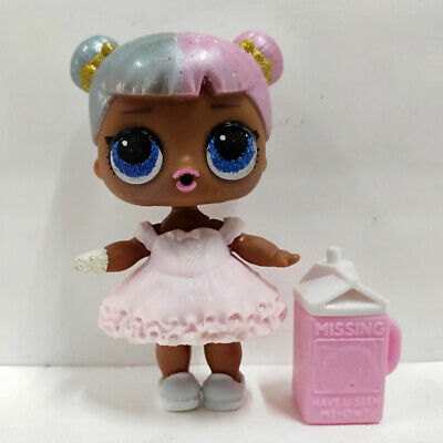 lol surprise doll Big Sister Series 2-006 SUGAR Pink Hair White Dress Kids Gift