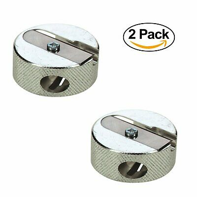 Beautique Round Metal Double Sharpener (Pack Of 2)