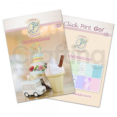 Cutting Craftorium CELEBRATIONS USB Scan n Cut SVG Files DIG0103 Free P /& P