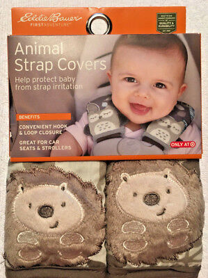 Eddie Bauer Animal Strap Covers Car Seats & Strollers Lions - New