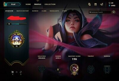 LEAGUE OF LEGENDS Account LOL Euw Smurf 24,000 BE IP Unranked Level