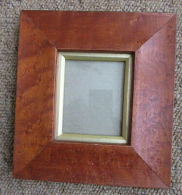 Vintage Birds Eye Maple Miniature Portrait Picture Frame With Slip