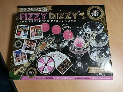 Drinking Party Games Prosecco Fizzy Dizzy Beer Pong Shot Spinner Roulette