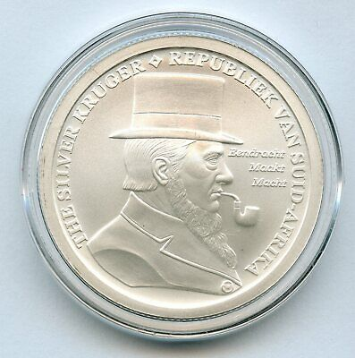 The Silver Kruger South Africa Silver Bullet Shield 1 oz 999 Round Medal JC496