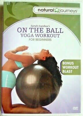 On the Ball Sara Ivanhoe Yoga Workout for Beginners New Factory Sealed DVD