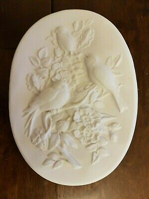 Birds Flowers Rubber Latex Mould Mold Wall Hanging Decoration Plaque New