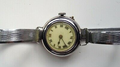 Art Deco Solid Silver Ladies Vintage Hinged Cased Pin-Set Swiss Made Watch