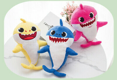 Baby shark singing plush toy animal with baby shark song and LED light