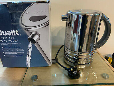 **Dualit Architect 1.5Lt Kettle In Polished Stainless &Grey, Bnib - Ex Display**