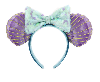 Disney Parks 30th The Little Mermaid Ariel Ear Headband New with Tag