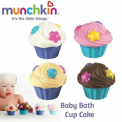 Munchkin Baby Bath Squirters Cup Cake│Toddler Bathing Toy│Colourful Frost│4 Pack