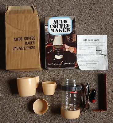 Vintage Auto Coffee Maker, 12v, for camping, camper van, travelling