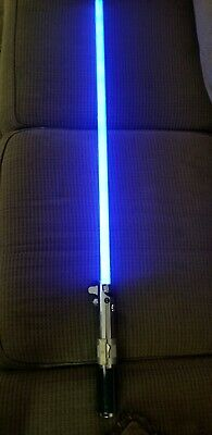 Star Wars LUKE SKYWALKER Force Fx Lightsaber 2005 Full Scale Master Replicas Blu