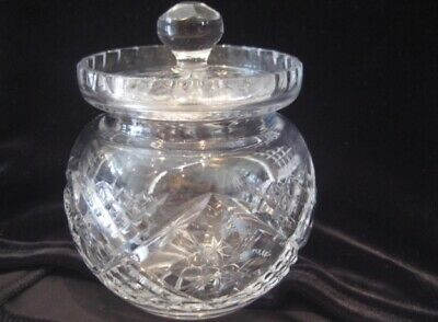 Inherited. Marmalade/Preserve Crystal Jar With Lid. Cut Out For Spoon. Pre-Loved