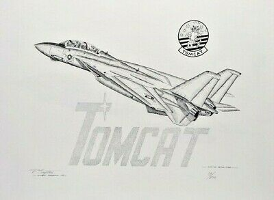 "Grumman F-14 ""Tomcat"" Limited Edition Pen & Ink Print"