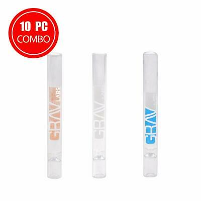 10 PC Grav Labs 12MM GLASS TASTERS - Assorted Colors - Fast Shipping!