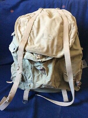 Vintage WWII US Army 1943 Backpack With Steel Frame