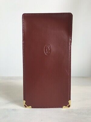 Cartier Burgundy Red Leather Sunglasses Glasses Spectacles Empty Case