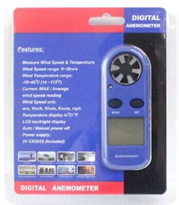 Anemometer Wind Speed Air Flow Meter Portable Digital Beaufort Scale Thermometer