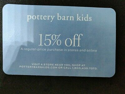 15% off Pottery Barn Kids COUPON furniture gift instore online card exp 10/31/19